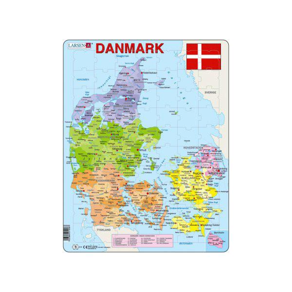 Image of Larsen Puslespil Danmarkskort