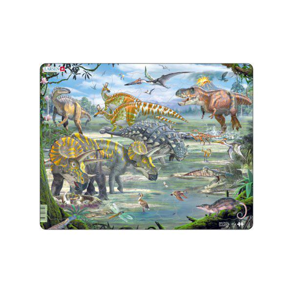 Image of Larsen Puslespil Dinosaurer