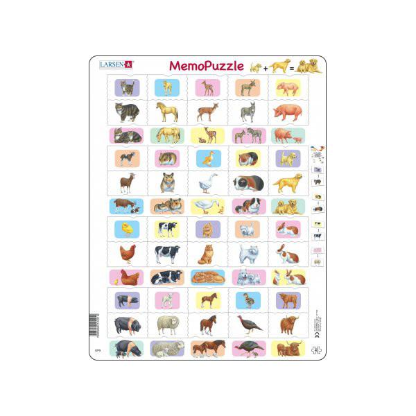 Image of Larsen Puslespil Voksne dyr og deres unger