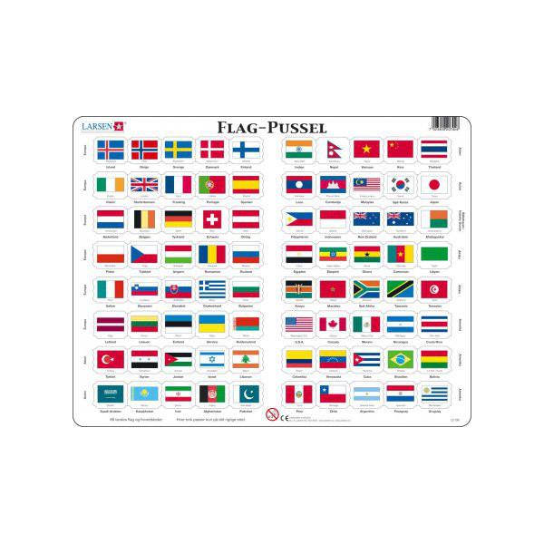 Image of Larsen Puslespil Flag