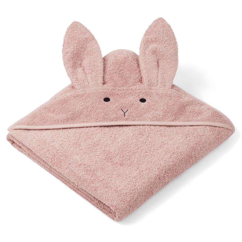Liewood babyhåndklæde, kanin – rose