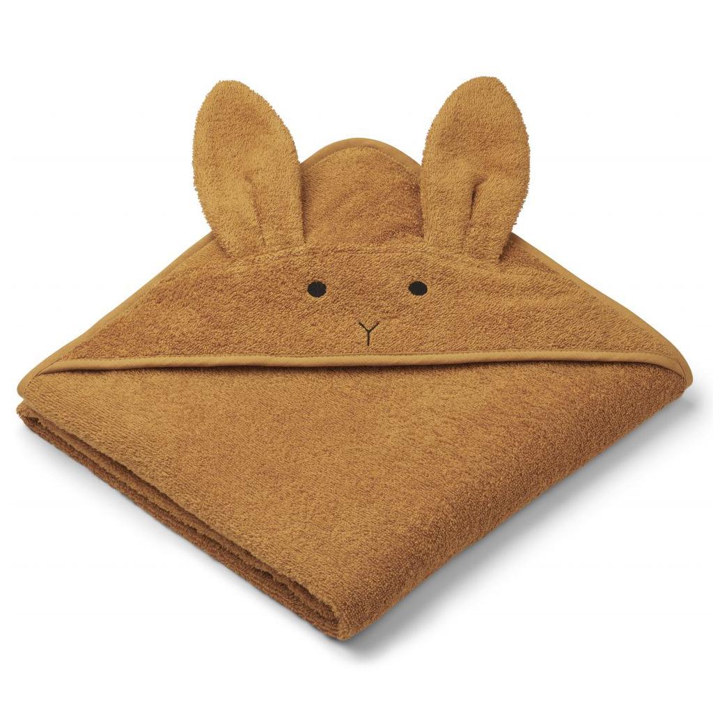 Liewood babyhåndklæde, kanin – mustard