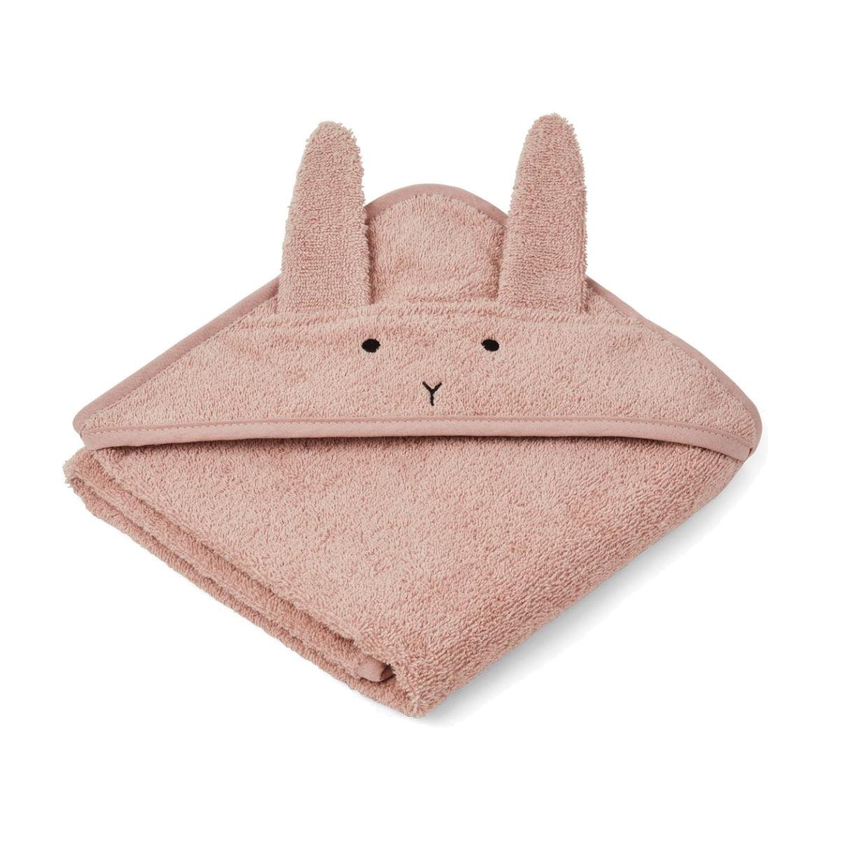 Liewood babyhåndklæde lille, kanin – rose