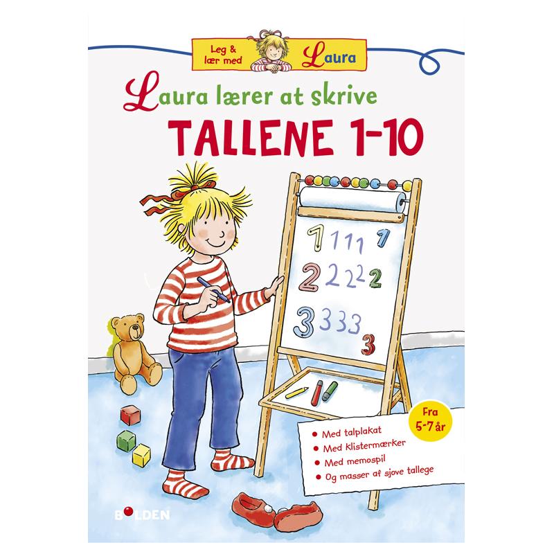 Image of   Laura lærer at skrive tallene 1 - 10