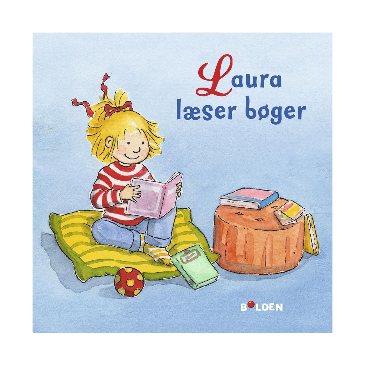 Image of   Laura læser bøger