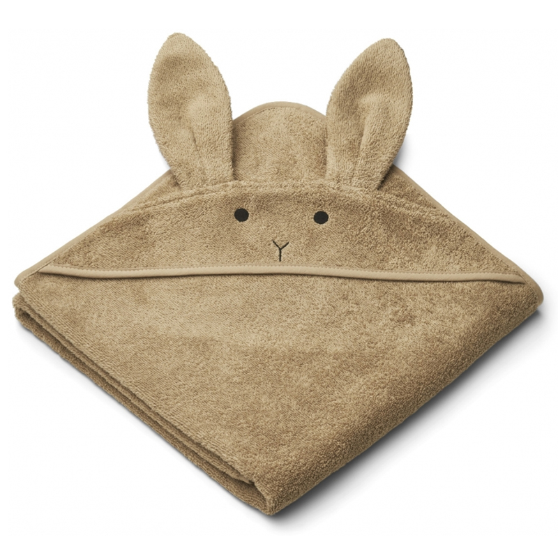 Liewood babyhåndklæde med hætte, rabbit oat
