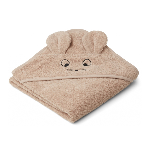 Liewood lille babyhåndklæde, Mouse Pale Tuscany