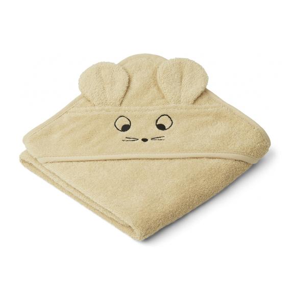 Liewood lille babyhåndklæde, Mouse Wheat Yellow