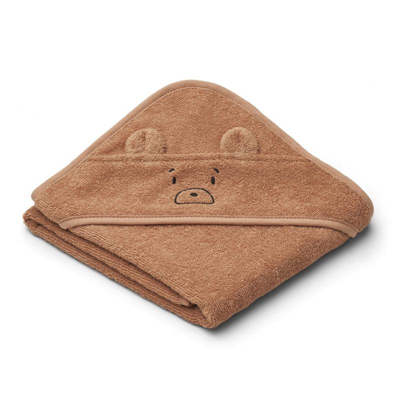 Liewood lille babyhåndklæde, mr bear tuscany rose