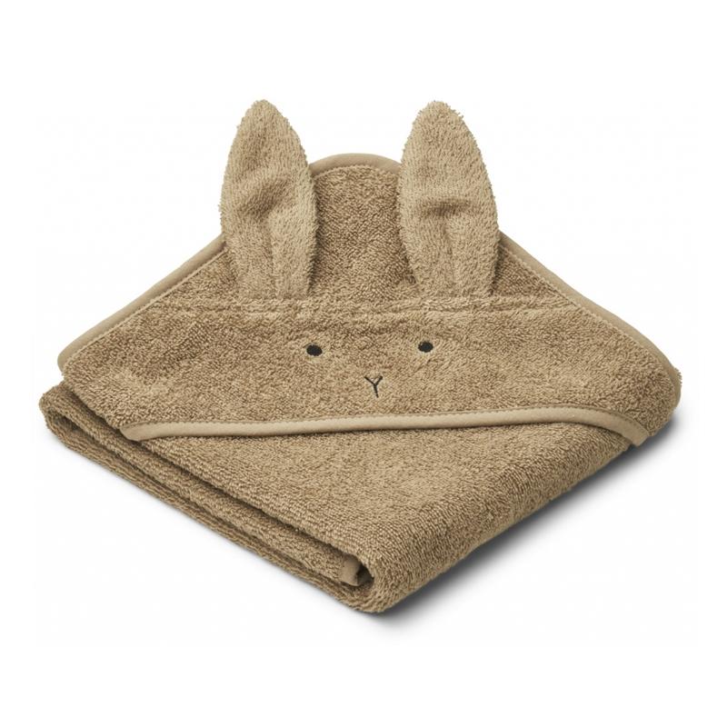 Liewood lille babyhåndklæde, rabbit oat