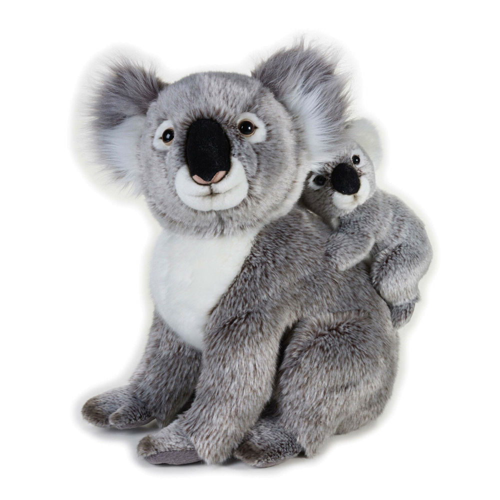 Image of   National Geographic bamse, koala med baby 37 cm