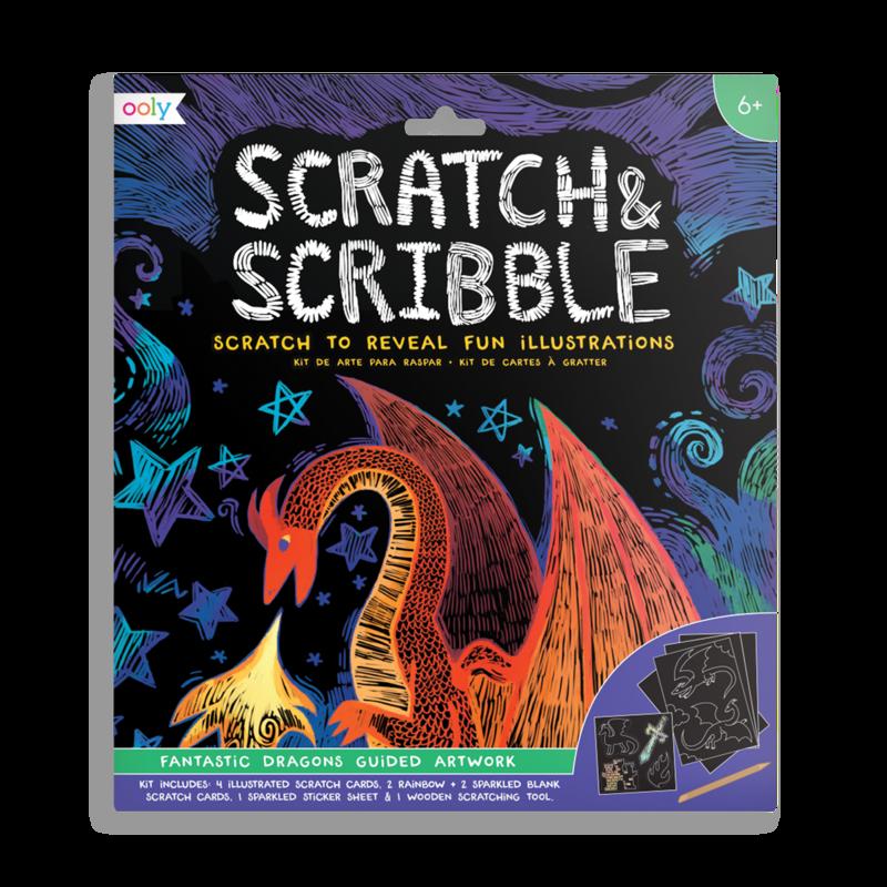 Image of   Ooly scratch kort, Fantastic Dragons