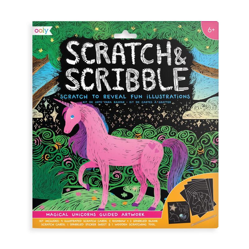 Image of   Ooly scratch kort, Magical Unicorns