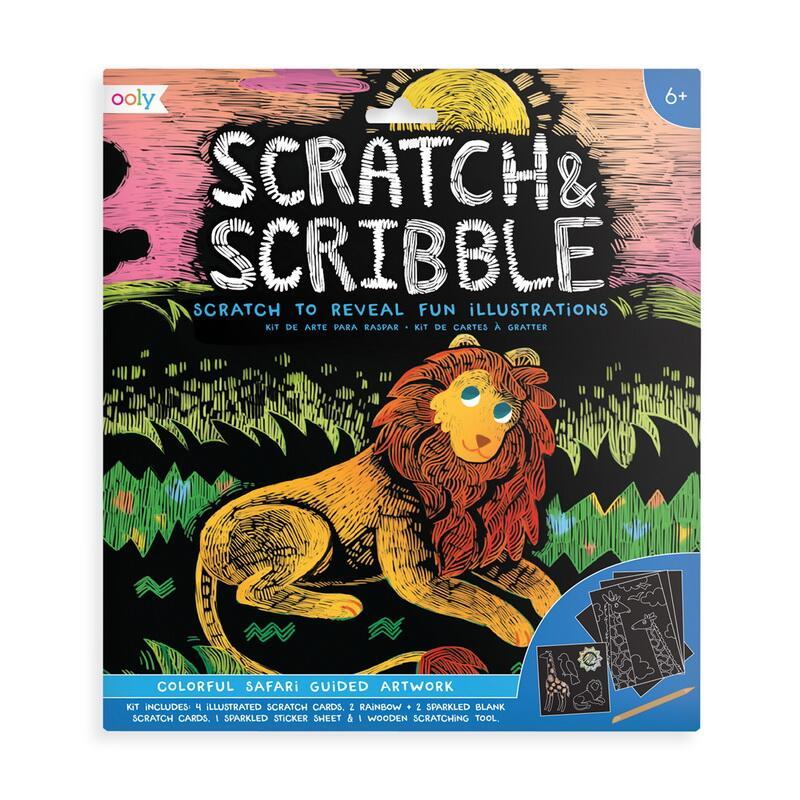 Image of   Ooly scratch kort, safari