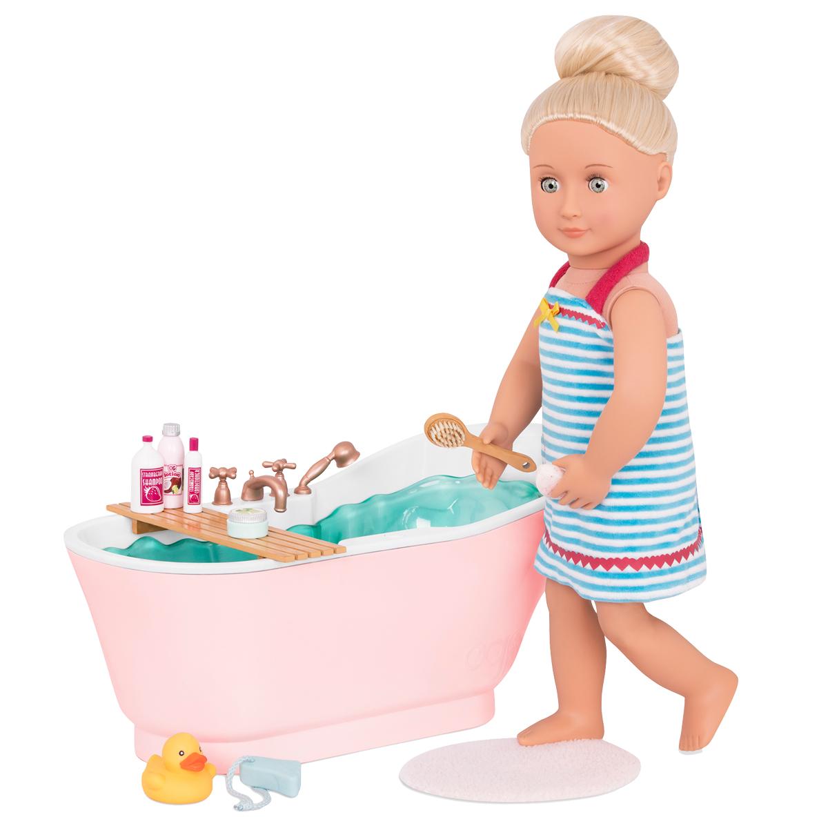 Image of   Our Generation dukketilbehør, badekar