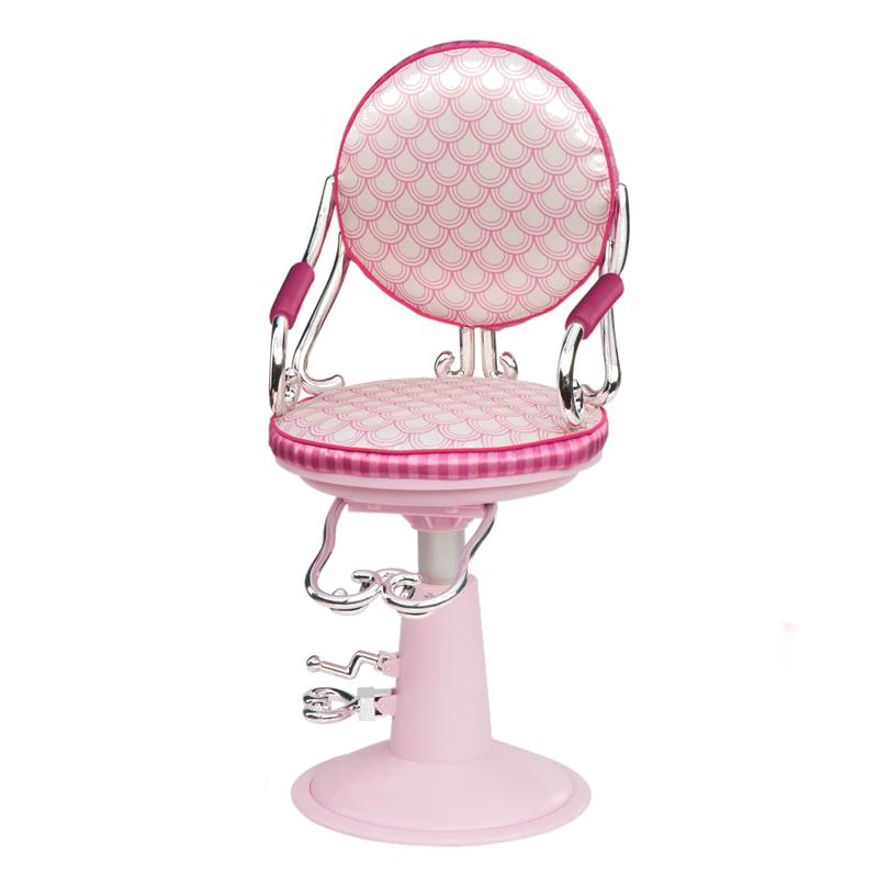 Image of   Our Generation dukketilbehør, frisørstol pink
