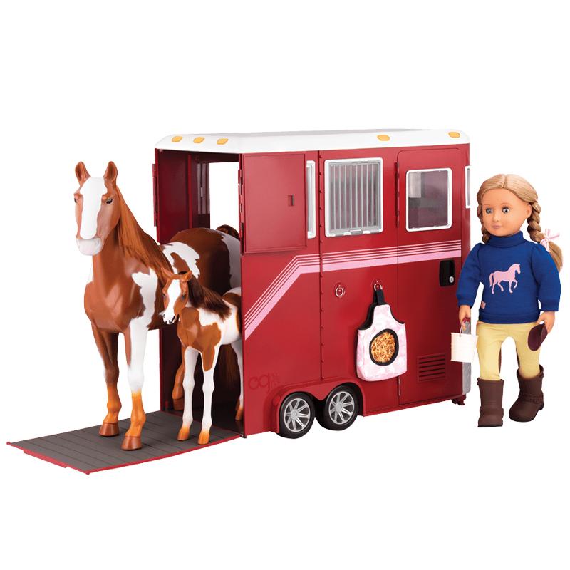 Image of   Our Generation dukketilbehør, hestetrailer