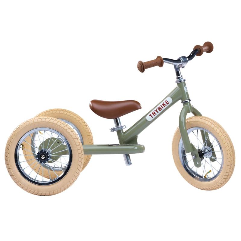 Image of Trybike, Balancecykel - tre hjul - grøn
