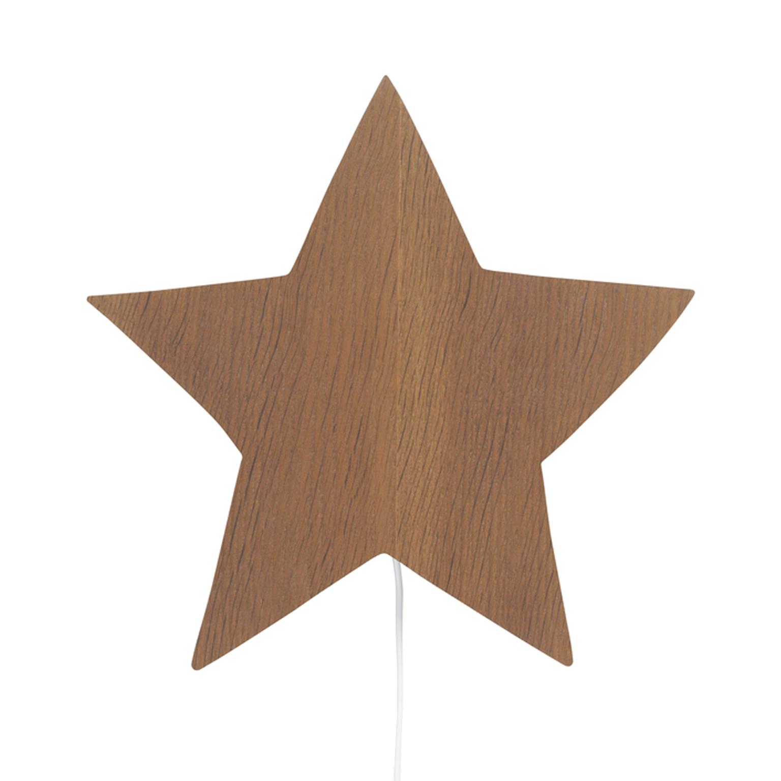 Væglampe - Stjerne - Smoked oak