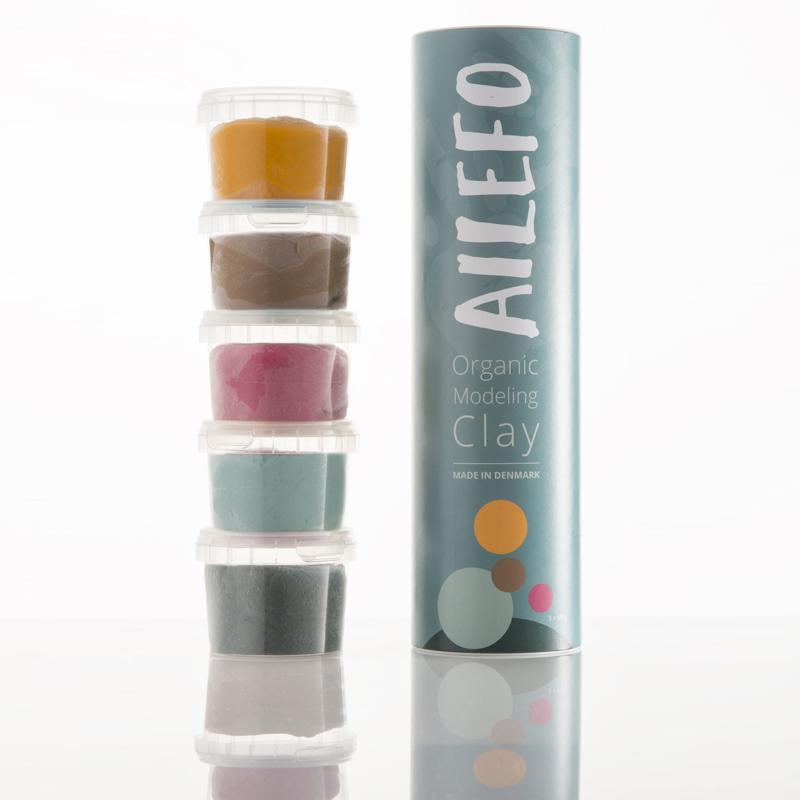 Image of   Ailefo økologisk modellervoks, tube med 5 farver - lille