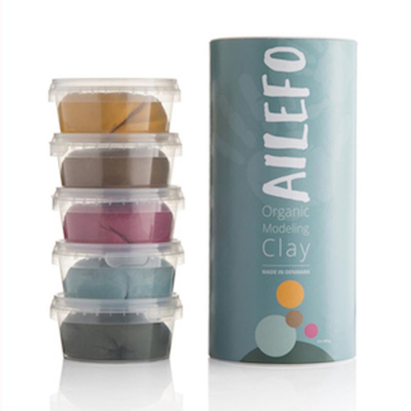 Image of   Ailefo økologisk modellervoks, tube med 5 farver - stor