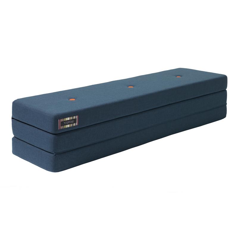 Image of   byKlipKlap 3-fold madras, 180 cm mørkeblå
