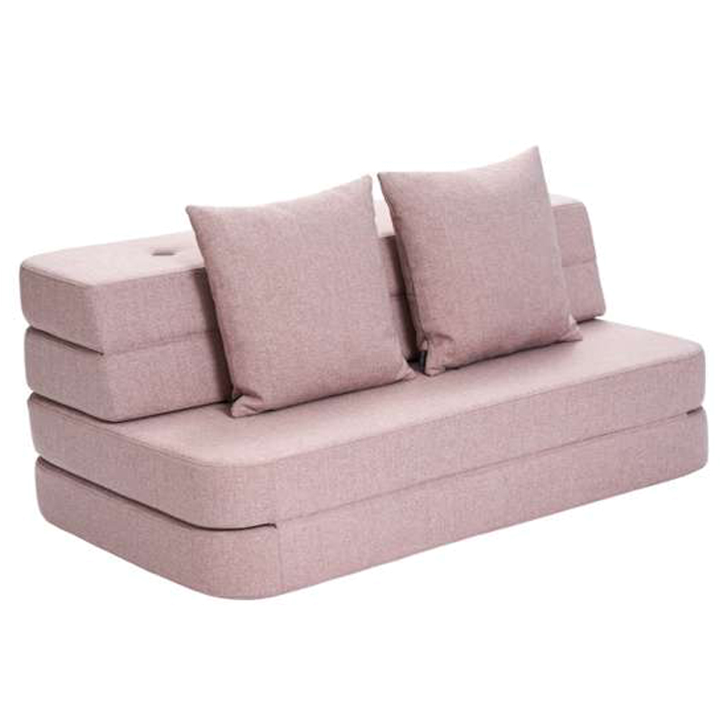 Image of   byKlipKlap 3-fold sofa, 120 cm soft rose