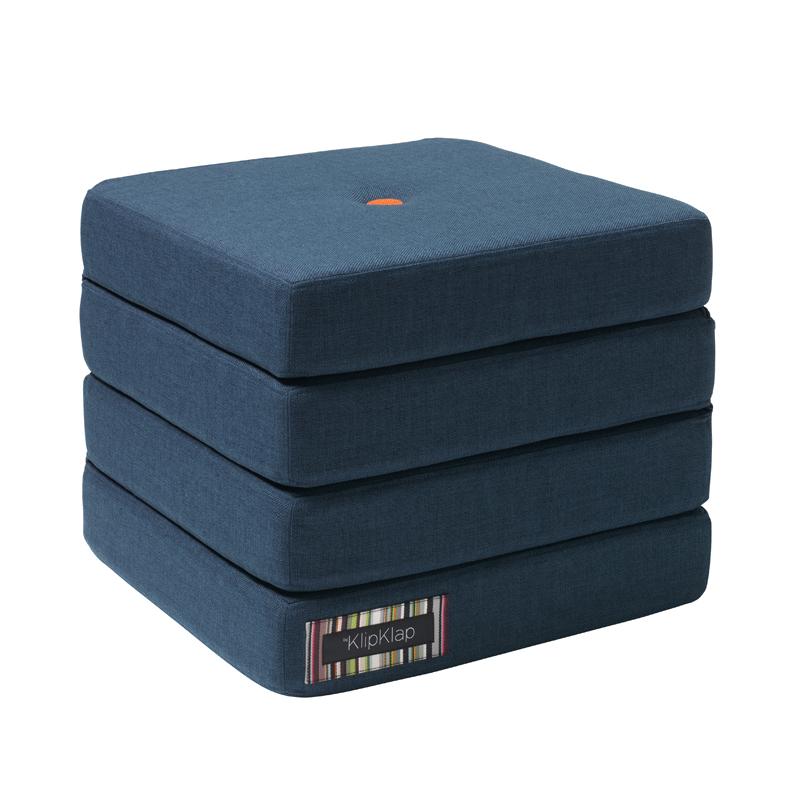 Image of   byKlipKlap 4-fold madras, mørkeblå