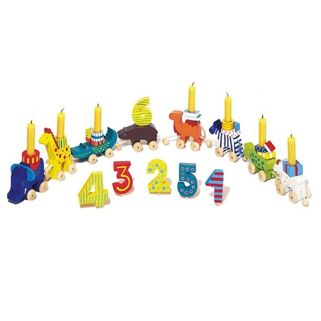 Image of   Fødselsdagstog i træ som dyr