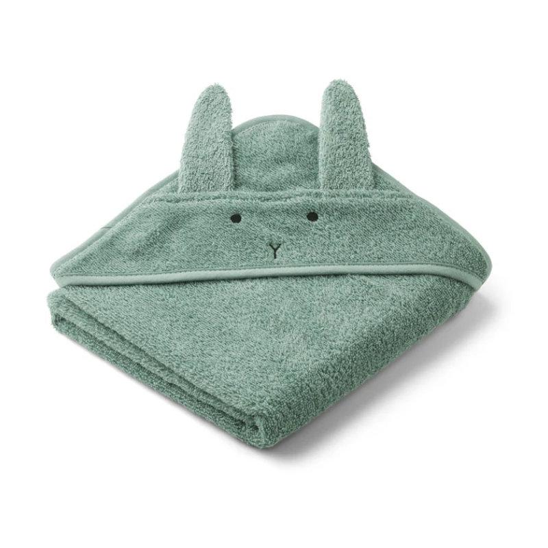 Liewood lille babyhåndklæde, kanin peppermint