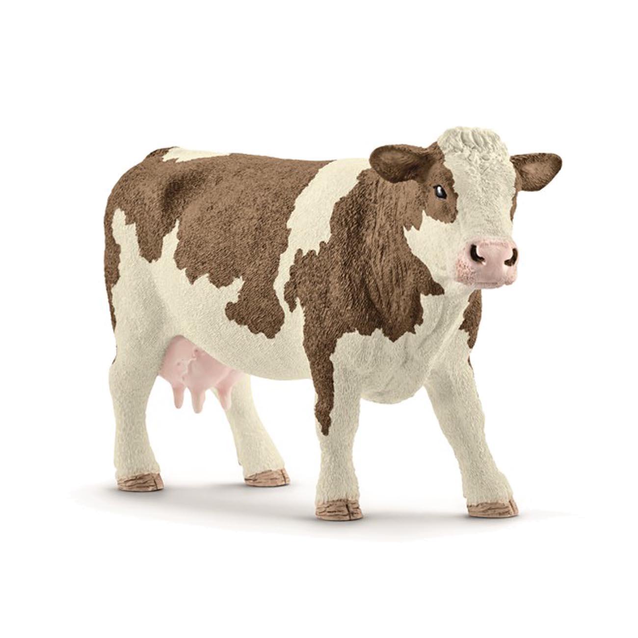 Image of   Schleich dyr, rødbroget ko