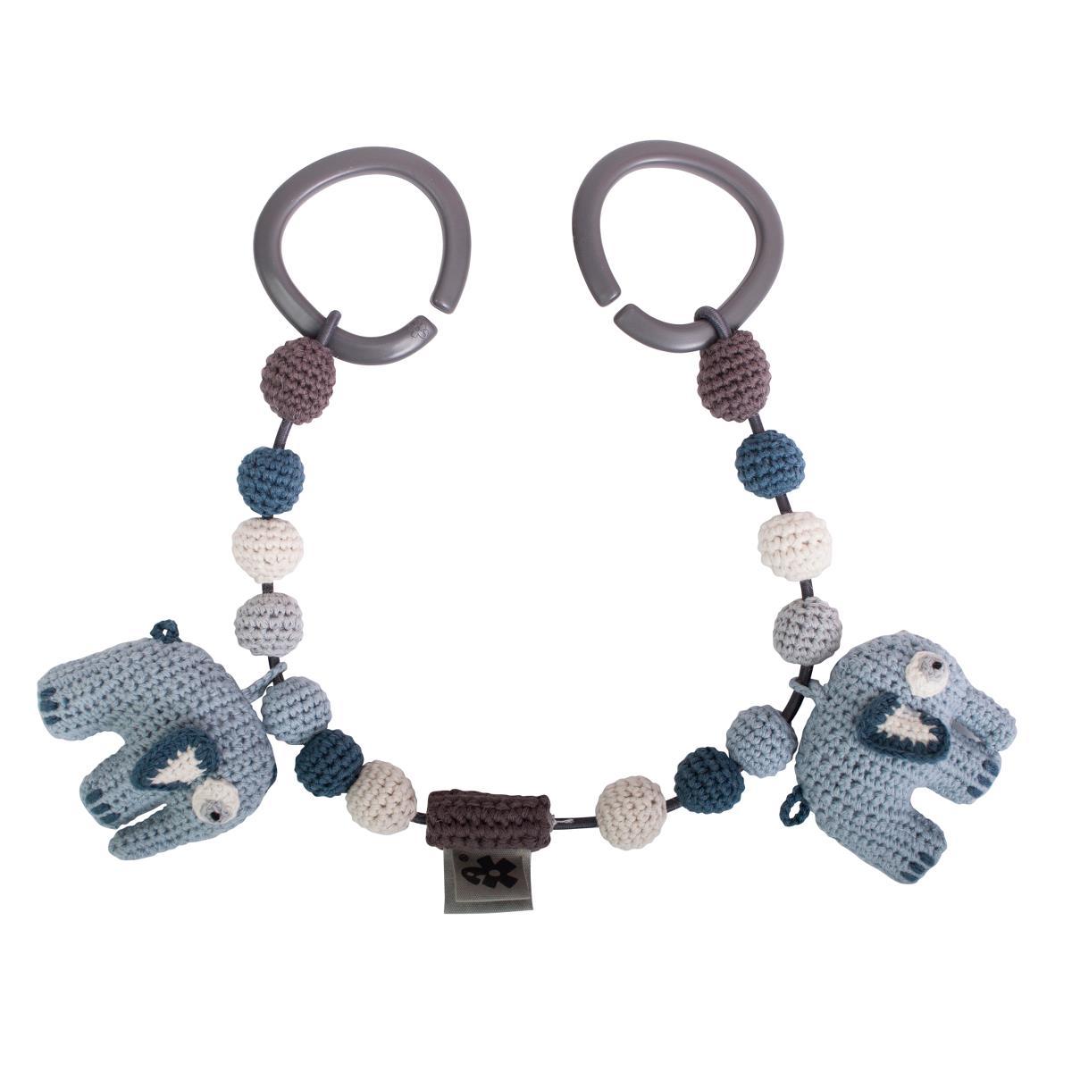 Billede af Sebra barnevognskæde, elefant - royal blue